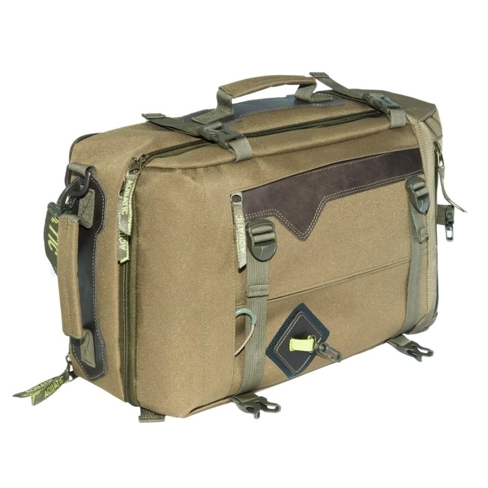 Сумка-рюкзак С-28Х с кожаными накладками (цвет: хаки)