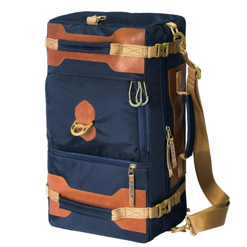Сумка-рюкзак С-27С с кожаными накладками (цвет: синий)