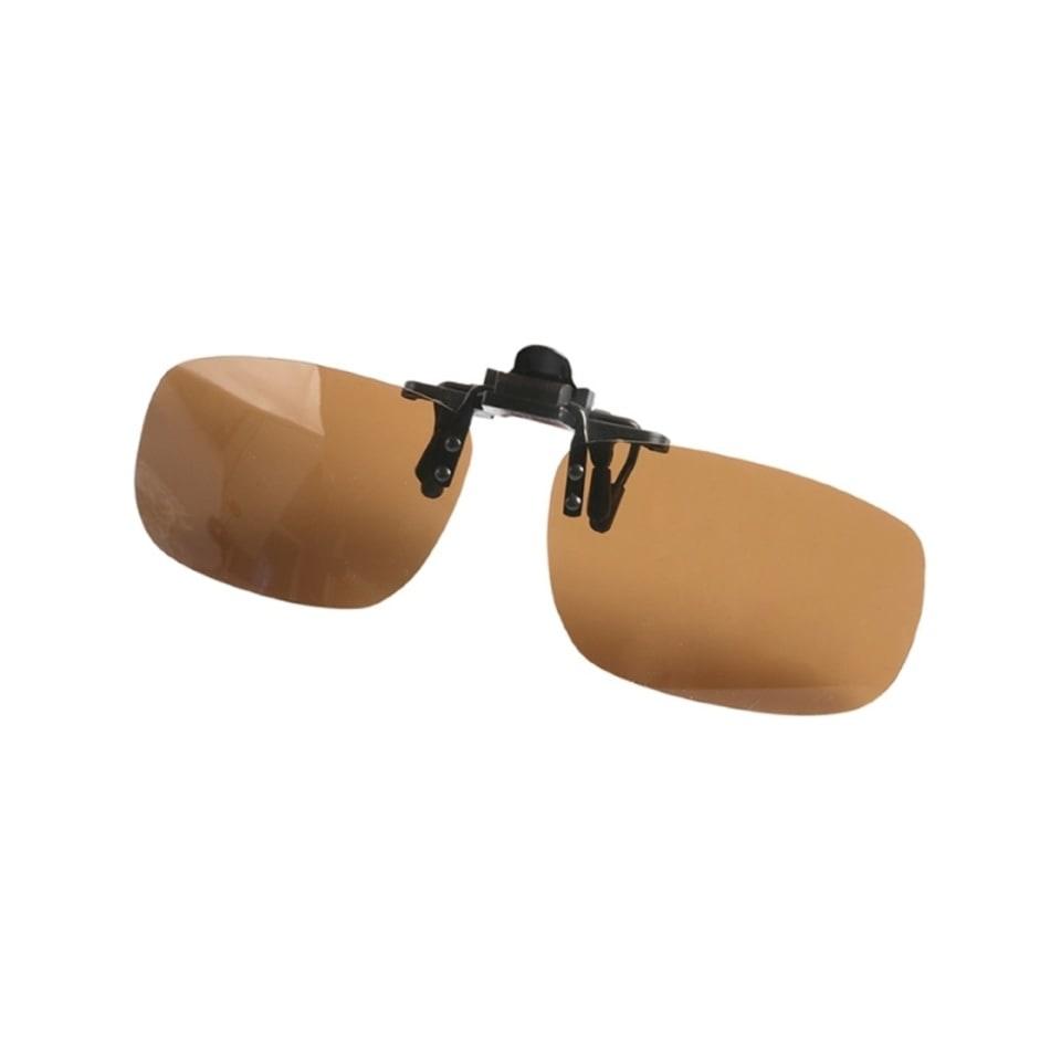 Поляризационные накладки на очки B-15 (цвет линз: коричневый)