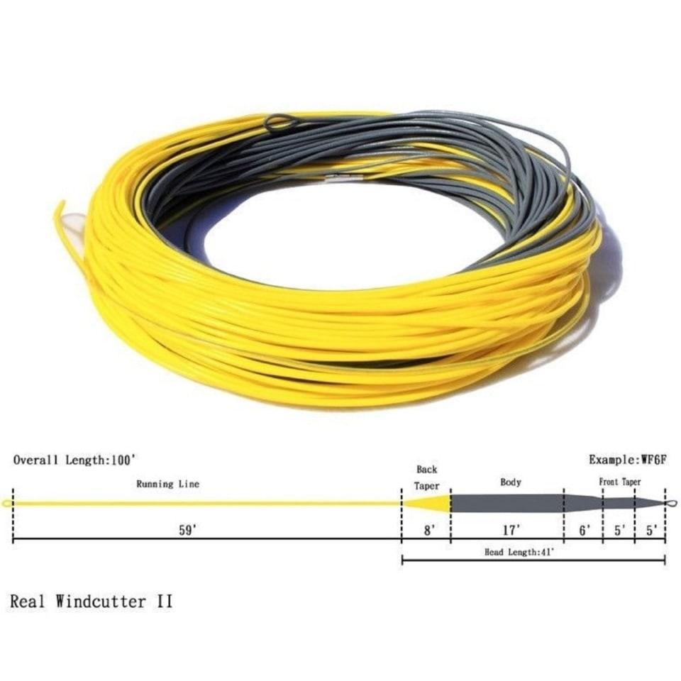 Нахлыстовый шнур профессионального уровня 4 класс (Real Windcutter) / WF-4F RW
