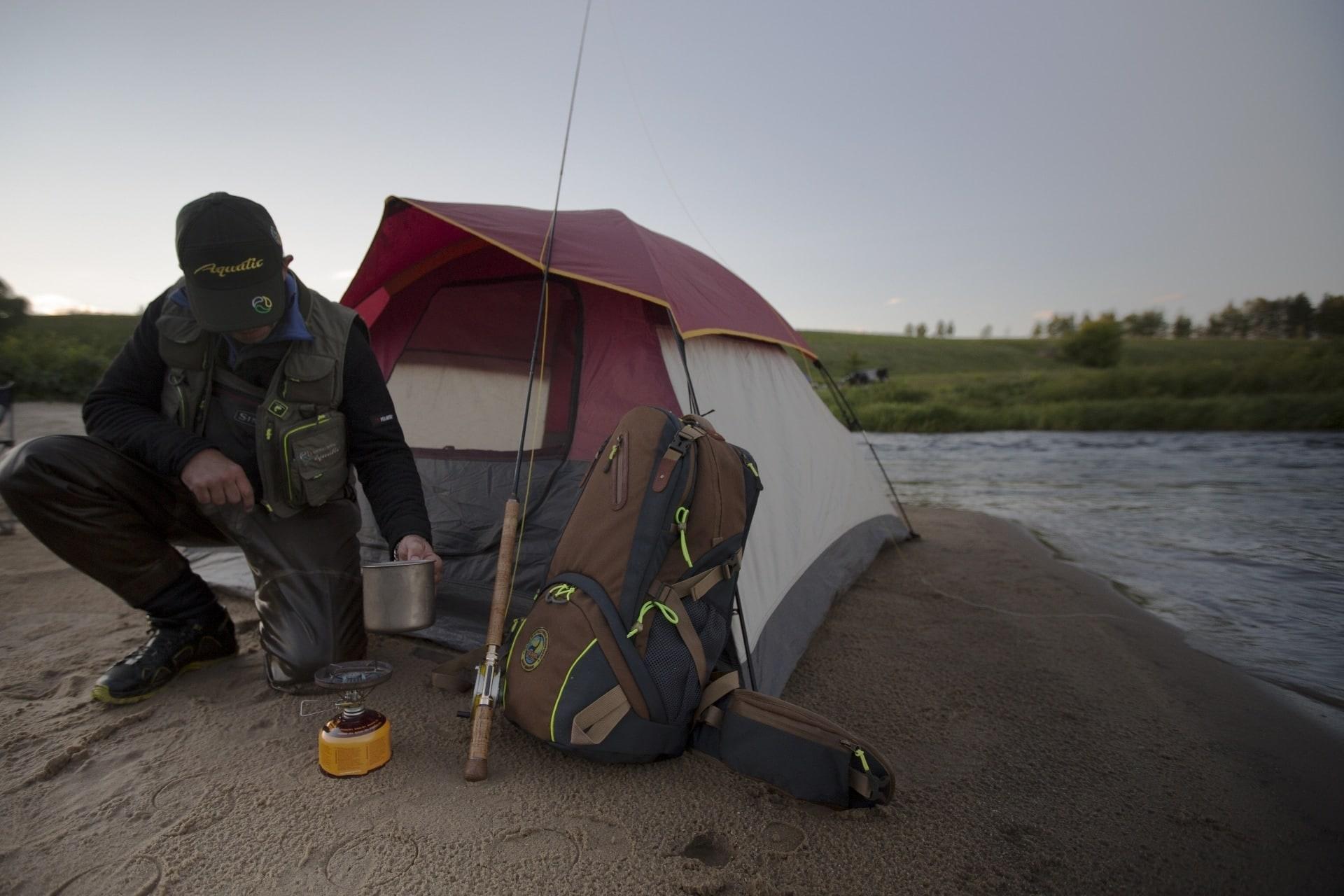 Рюкзак Р-45СК трекинговый (цвет: серо-корчичневый)