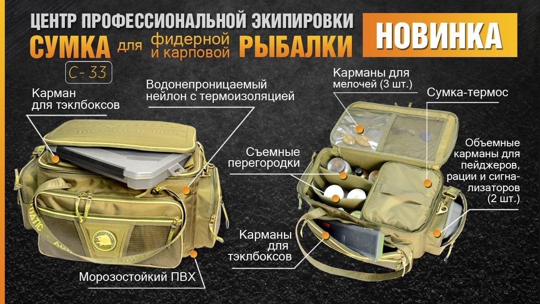 Универсальная сумка рыбака С-33
