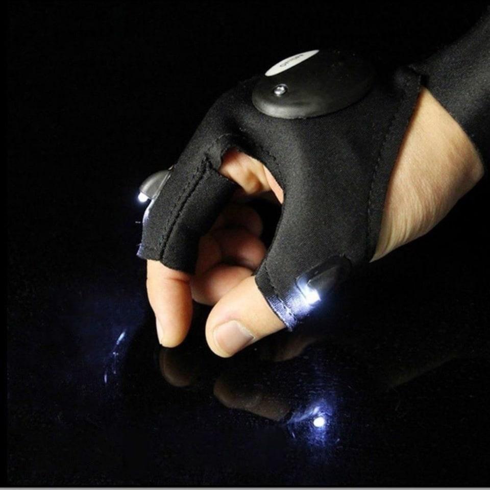 Перчатка рыбака FL-11 со светодиодной подсветкой (праворукая)
