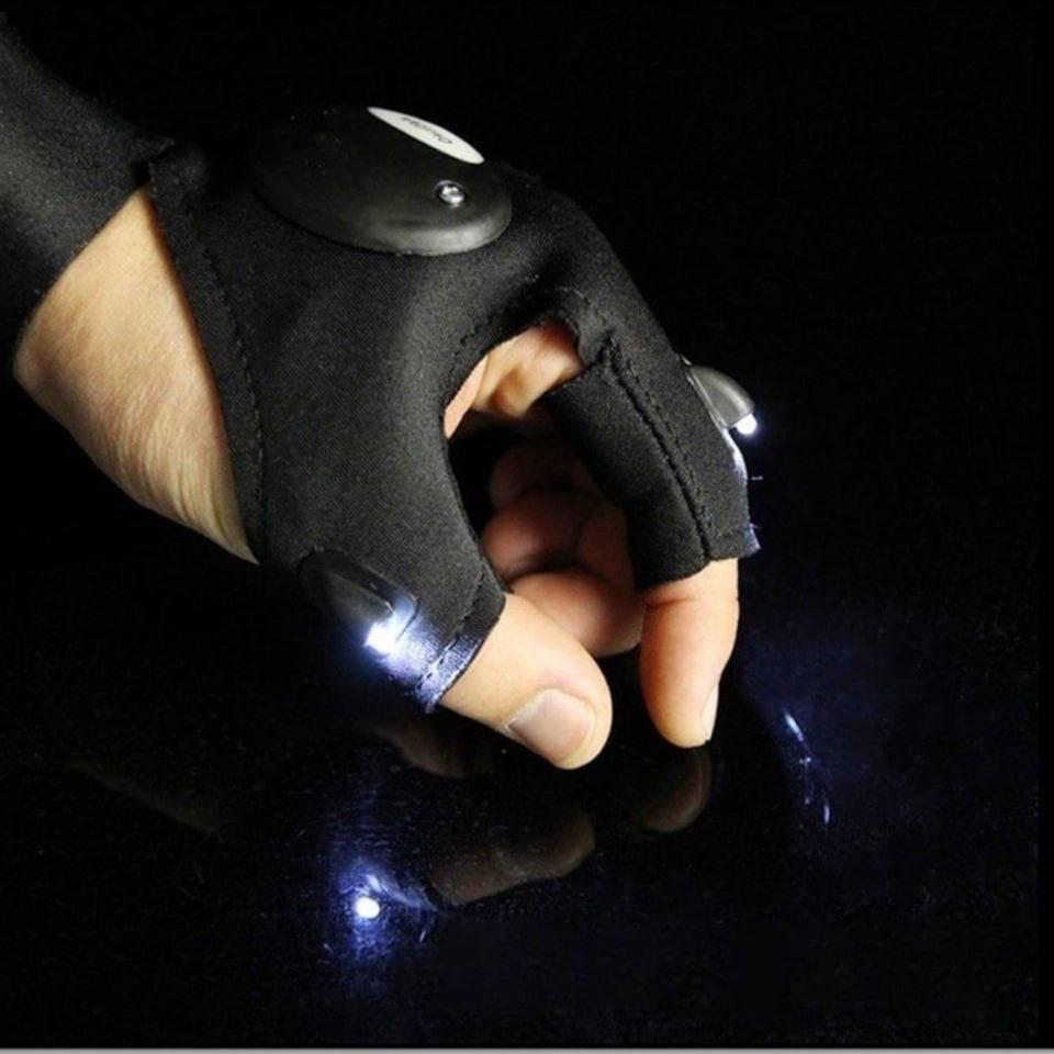 Перчатка рыбака FL-12 со светодиодной подсветкой (леворукая)