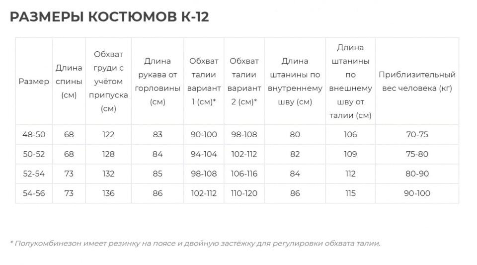Костюм К-12