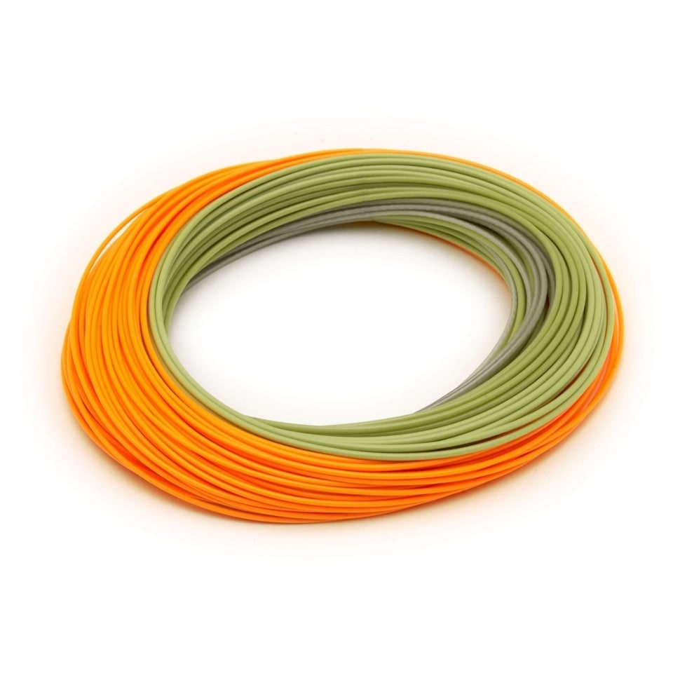 Нахлыстовый шнур Big Nasty WF-8F/F 100ft Orange/Moss Green 2 welded loops