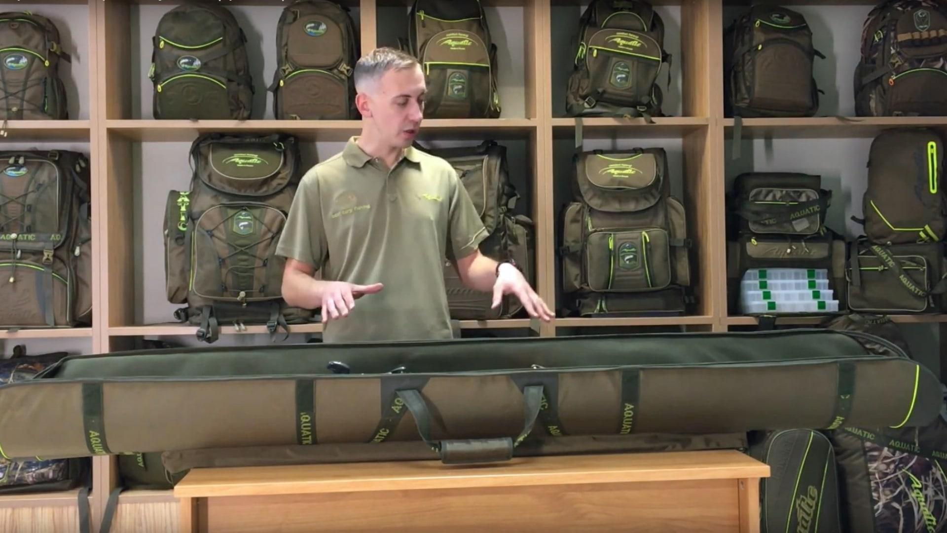 Видеообзор чехла для карповых удилищ Aquatic Ч-19
