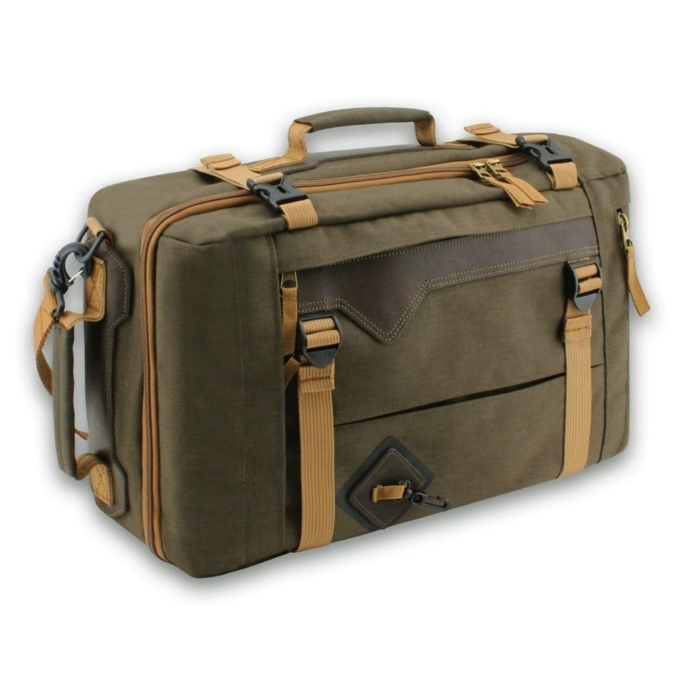 Сумка-рюкзак С-28 с кожаными накладками
