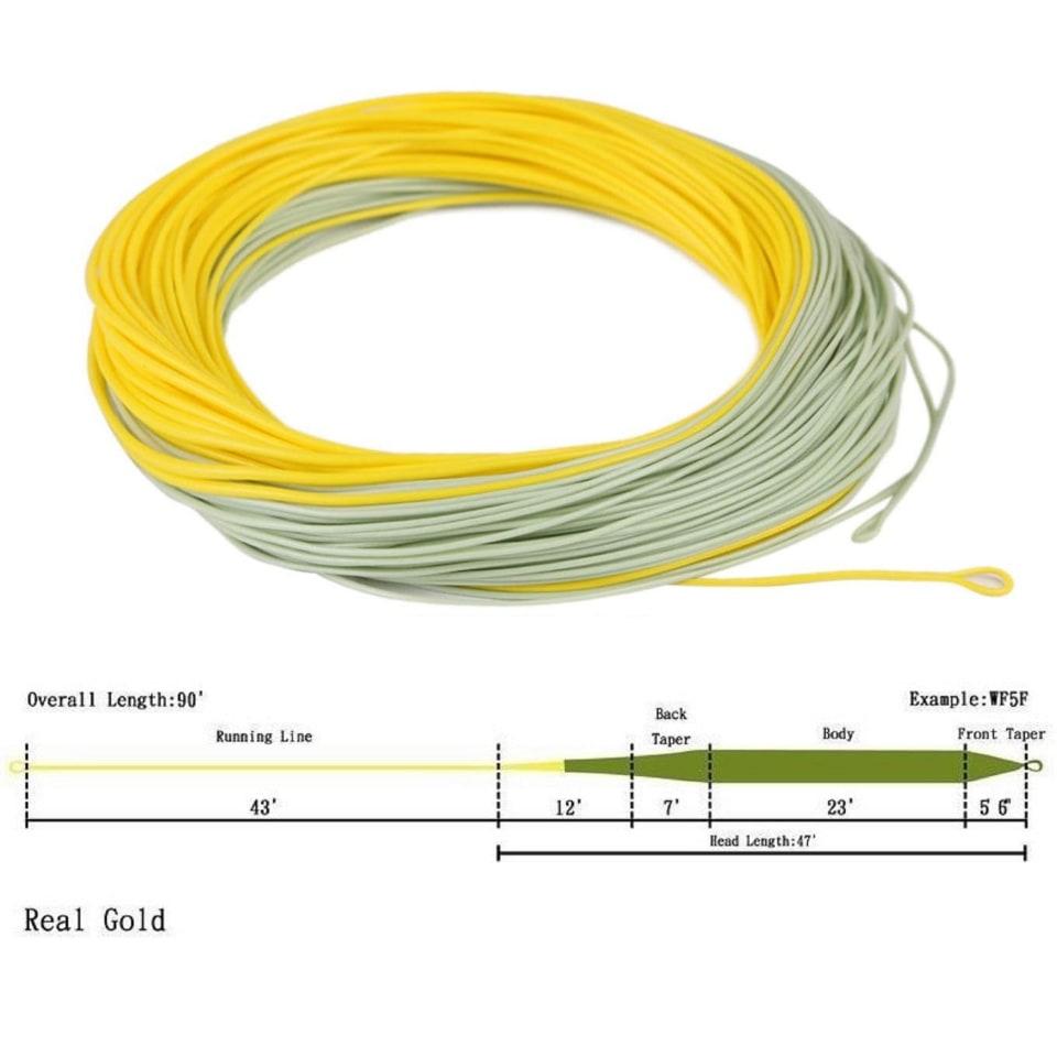 Нахлыстовый шнур Real Gold / WF F