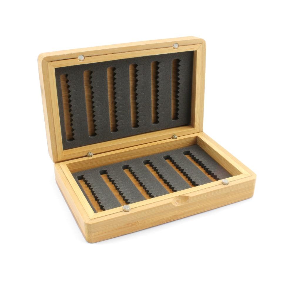 Деревянная коробочка AZ02 для нахлыстовых мушек, мормышек