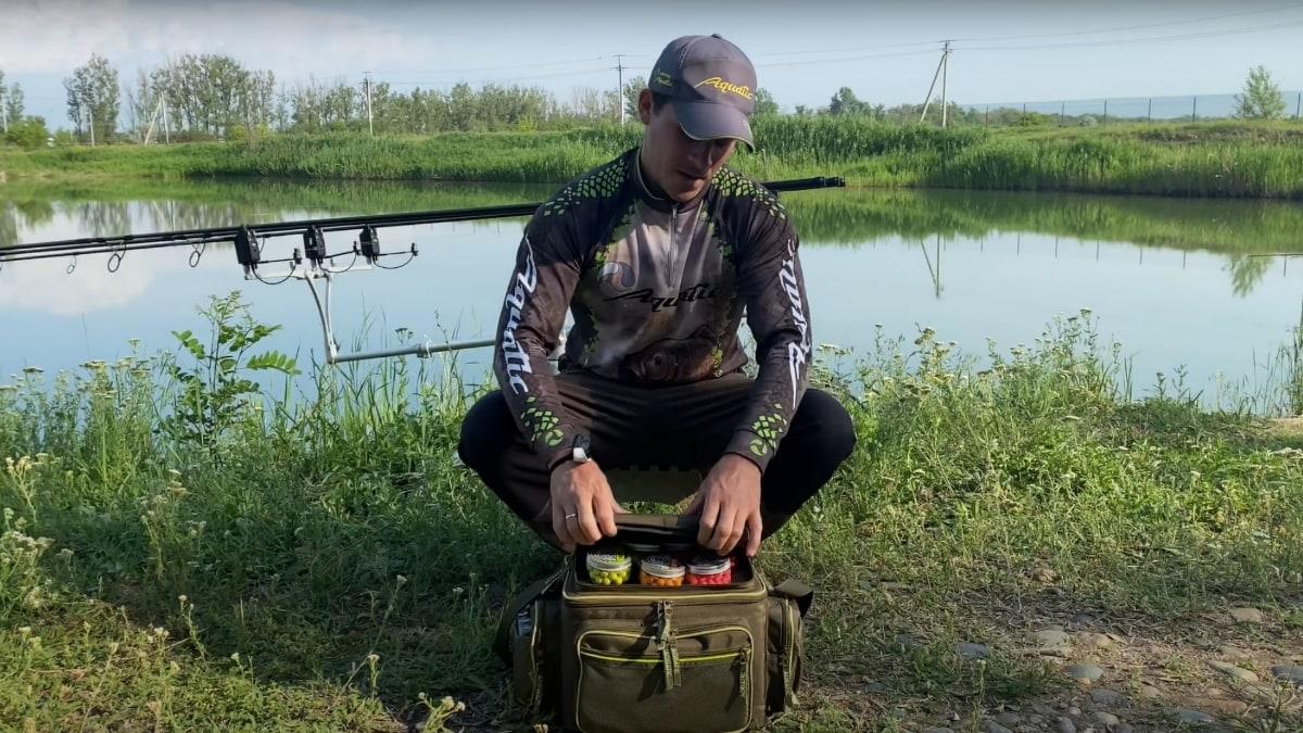 Видеообзор термо-сумки Aquatic С-44 с банками для хранения дипов и насадок от Андрея Богомолова