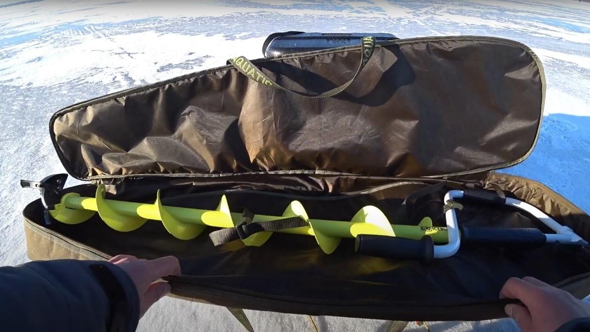 Видеообзор чехла для ледобура Aquatic Ч-05Б от Дмитрия Волгина